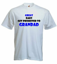 GRANDAD PROMOTED T-SHIRT FUNNY DAD TSHIRT FATHER T SHIRT PRESENT S-XXL