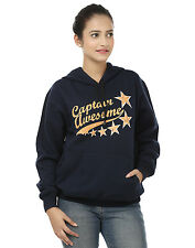 "Stylish Women's ""Captain Awesome"" Printed Hooded Sweatshirts"