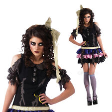 Womens Zombie Doll Rubies Fancy Dress Costume New Ladies Halloween Party Outfit