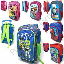 KIDS WHEELED TROLLEY HAND LUGGAGE TRAVEL BAGS DISNEY FROZEN, AVENGERS & MORE