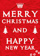 Werbeplakat - Poster - Merry Christmas and a Happy New Year