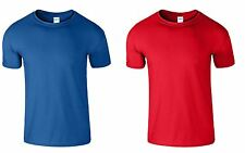 2 Pack New Mens Gildan Plain TShirt  Unisex T Shirts Soft Style Cotton L M S XL