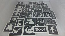 25 - 400 Halloween stencil for glitter tattoo face painting witch ghost pumpkin