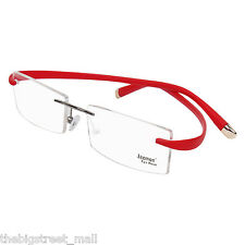 Zeemon Unfoldable Rimless Frame Spectacles Men Women Eyewear Eyeglasses Z_522