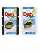 Dishmatic Fill and Clean Refill Sponges 3 pack - Heavy Duty or Non Scratch