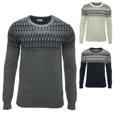 Selected Herren Norweger Strickpullover Pullover Knit Jumper Crew Neck Color Mix