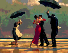 STAMPA SU TELA CANVAS TIPO VETTRIANO THE SINGING BUTLER EFFETTO WARHOL 80X100