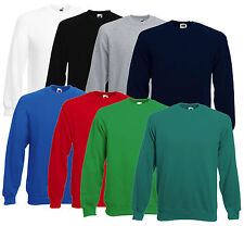 FRUIT OF THE LOOM HERREN RAGLAN SWEATSHIRT VERSCH. FARBEN S-XXL NEU