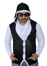 Black Collection Stylish Attached Muffral T-Shirt (SKU: BCSA0003)