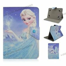"""For Most 9.7"""" 10"""" 10.1"""" Universal PU Leather Case Cover Tablet PC cartoon frozen"""