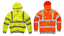 NEW MENS HI VIZ DICKIES HOODIE SWEATSHIRT HOODED SECURITY WARM WORK SWEAT HOODIE