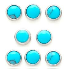 New Surgical Steel Semi Precious Turquoise Stone Dermal Anchor Head 3mm 4mm 14g