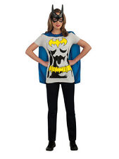 Adult Licensed Batman Batgirl T Tee Shirt Fancy Dress Costume Ladies Women BN