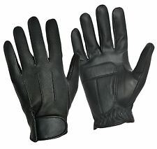 Mens Women Driving Fashion Gloves Retro Real Leather Top Quality Fleece Lined