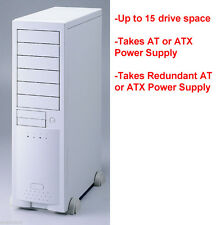 Big AT, ATX Beige Server Tower Chassis Case. Up to 13 drives. Dual PSU. ECE6102