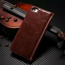 """Apple iPhone 6/6s (4.7"""") Premium Genuine Cowhide Leather Stand Case Cover"""