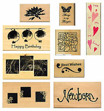 Various Anita's & Hero Arts Wood Mounted Rubber Stamps Multi-Listing - SALE