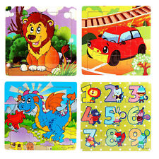 16 Pieces Wooden Kids Jigsaw Toys Education And Learning Puzzles Toys Child Gift