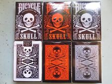 CARTE DA GIOCO BICYCLE SKULL,poker size