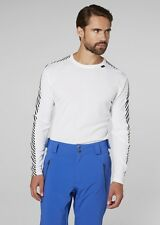 Helly Hansen Lifa Sec Rayure Col Rond Thermique Haut Manches Longues Blanc