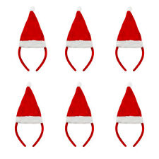 PACK OF MINI RED SANTA HAT ON HEADBAND WHOLESALE FANCY DRESS CHRISTMAS ACCESSORY