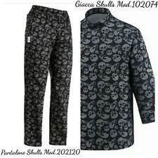 COMPLETO CUOCO EGOCHEF PANTALONE GIACCA SKULLS TESCHIO CHEF JACKET PANTS