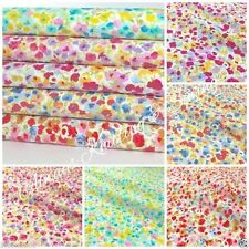 Per half metre/fat quarter cotton poplin Le Violet floral fabric 100% cotton