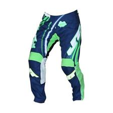 JT RACING ENDURO MX MOTOCROSS / VTT Pantalon - Flex - Flow - bleu-vert-blanc