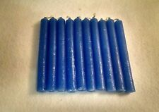 "10 Blue Chime Spell Candles Mini 4"" Pagan Wicca Hoodoo Santeria Altar Ritual"