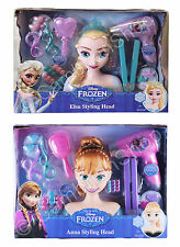 Disney Frozen Elsa Anna Styling Head 21 pieces Working Hairdryer Model Girls