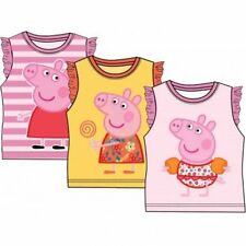 OFFICIAL PEPPA PIG Girls Summer T-Shirts / Vest Tops 2 3 4 5 6 Years