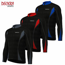 Mens Cycling Jersey/Jacket Full Sleeves Cold Wear Thermal Fleece Bike Top