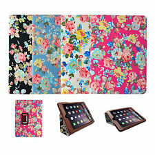 Apple iPad Mini 2/3/4 Vintage Multicolor diseño floral con tapa, tipo libro