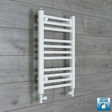 500mm Wide 600mm High Straight White Heated Towel Rail Radiator Bathroom Rad