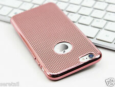 LUXURY ELECTROPLATE GRID SOFT SILICONE BACK CASE COVER FOR APPLE iPHONE 6 / 6S
