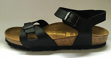 New Birkenstock Rio Classic Sandals - Black - Made In Germany - Narrow