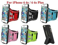 AMZER Jogging Gym Armband Snap On Shellster Fit Case Stand For iPhone 6 6s Plus