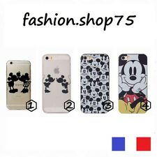 Housse Coque Souple Transparent Mickey Minnie  Iphone 4/5/6/6+  Et Stylet