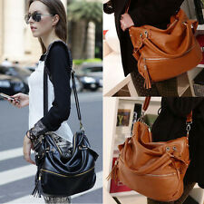 Women Leather Handbag Messenger Shoulder Bag Satchel Tote Purse Cross Body Bag