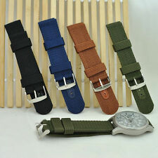 Mens Ladies 18mm or 20mm Nylon Military Army Style Watch Strap Band
