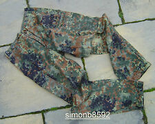 GERMAN ARMY SURPLUS ISSUE FLECKTARN CAMO COMBAT TROUSERS-COTTON/TROPENTARN/CARGO