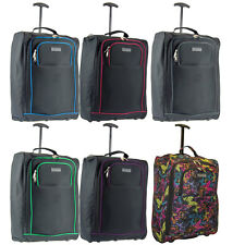 Twin Set 55x40x20 Cabin Approved Wheeled Ryanair Trolley Suitcase Hand Luggage