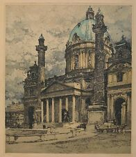 "Luigi Kasimir Etching ""St. Charles Church"", Vienna. SIGNED & NUMBERED! 1st ED!"