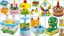 Musical Boxes Wooden Gift Children Kids Colourful NEW
