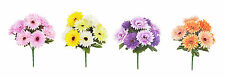 32cm 9 Head Gerbera Posy Bouquet Artificial Flowers Pink Purple Orange Cream