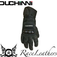 SALE CHEAP DUCHINI WOLF BLACK LEATHER MOTORCYCLE MOTORBIKE TOURING GLOVES