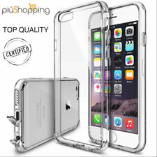 COVER CUSTODIA MORBIDA TRASPARENTE TPU GEL SILICONE PER IPHONE 6 6S 7 8 O PLUS