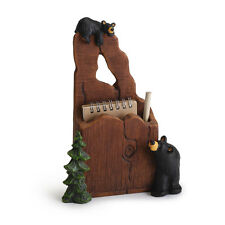 Big Sky Carvers Bearfoots Bear Noteworthy Notepad & Pencil Holder Mail Basket