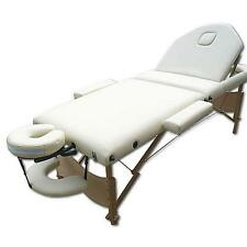 3 Zonen Mobile Massageliege Massagetisch Massage Kosmetikliege schwarz/creme M01