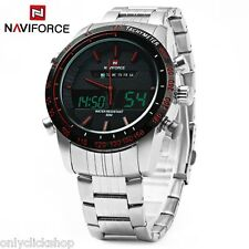 NAVIFORCE NF9024 Uomo Quarzo Orologio Da Polso Analogico Digitale LED Allarme